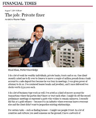 Financial Times - The Job: Private Fixer
